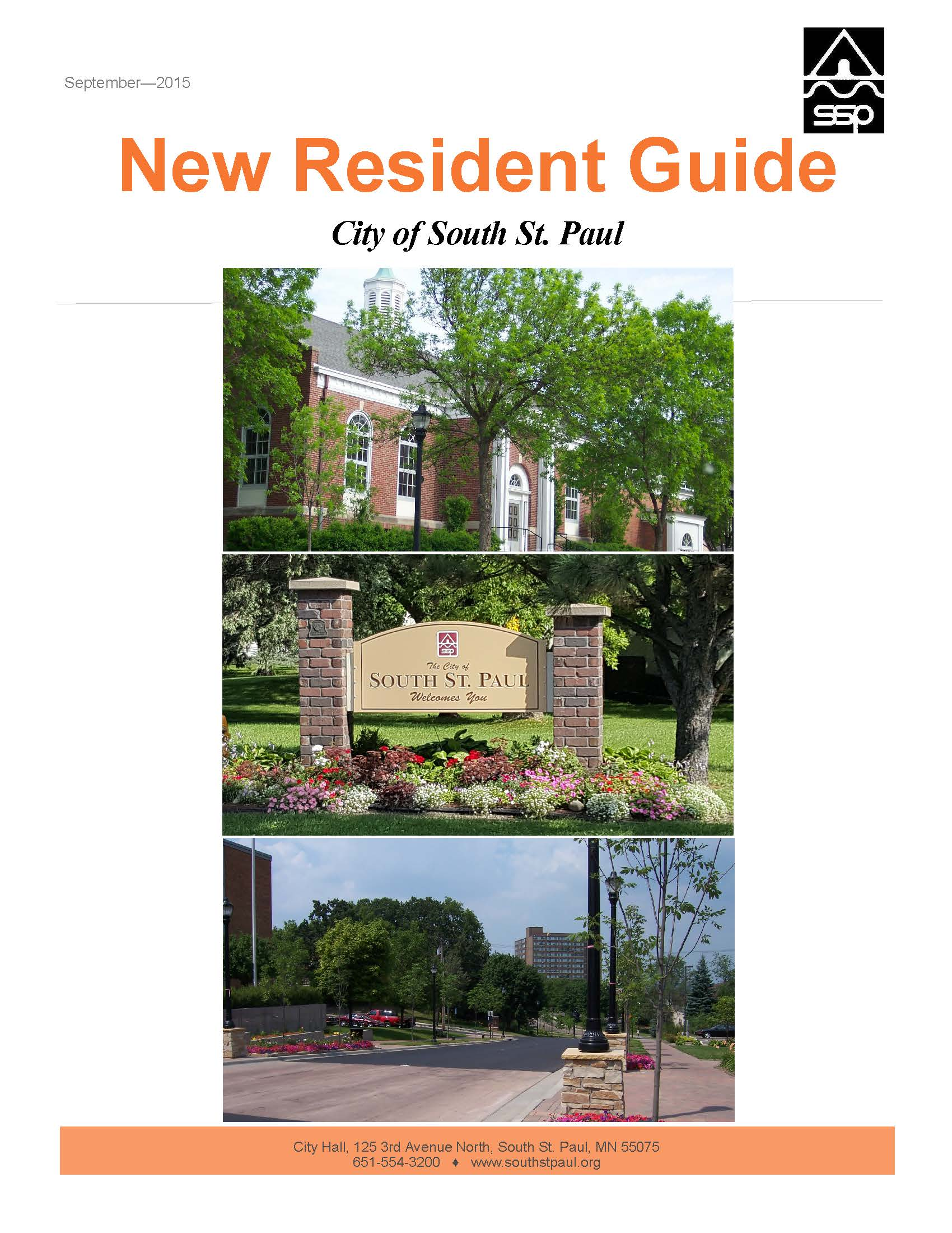 New Resident Guide Cover