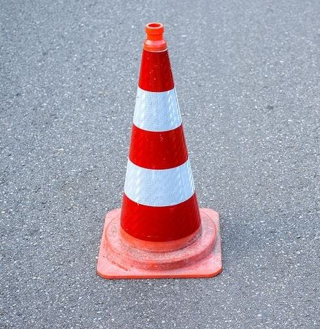 Image of Traffic Cone on a Road