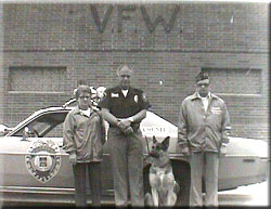 Officer Pince and K9 Wolf 1980