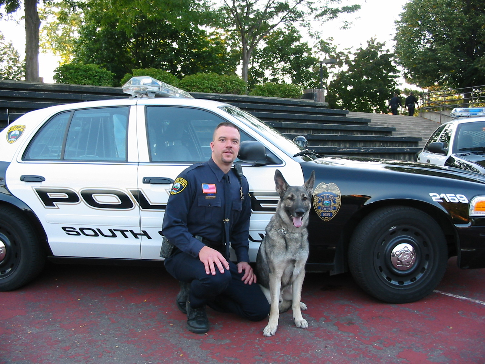 Photo of Officer Wicke and K9 Rocky September 23 2004